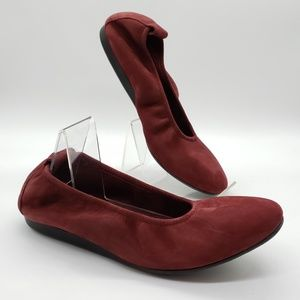 Arche Laius red suede flats made in France SZ 7